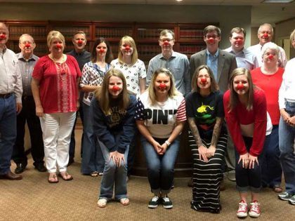 Potter Minton employees caught clowning around (again)!